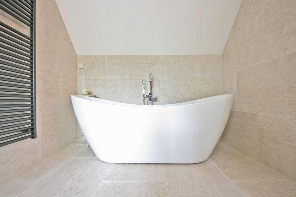 Stone Bathroom Flooring in Fulham and Bath
