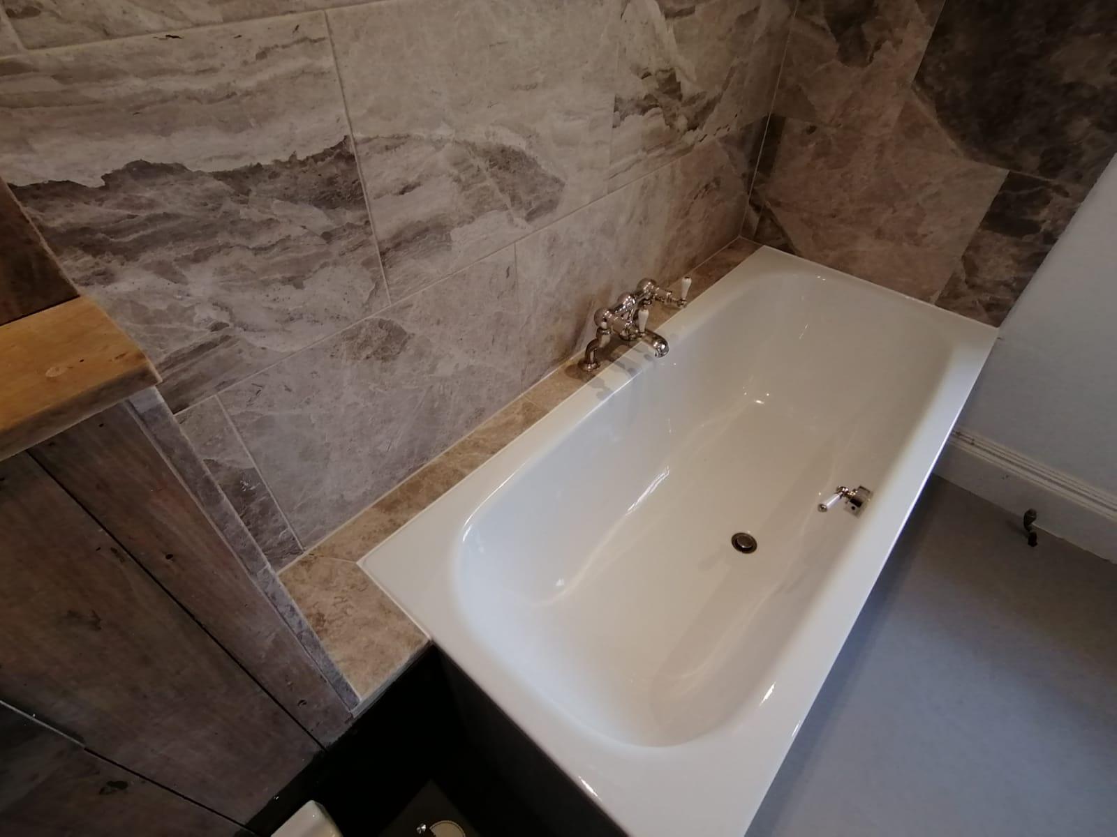 Brushed Stone Flooring Bath and Fulham